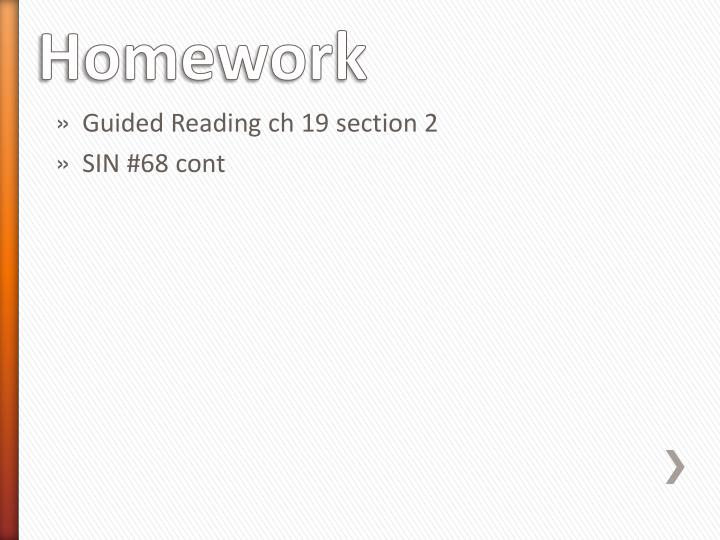 Guided Reading ch 19 section 2