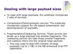 dealing with large payload sizes