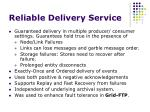 reliable delivery service