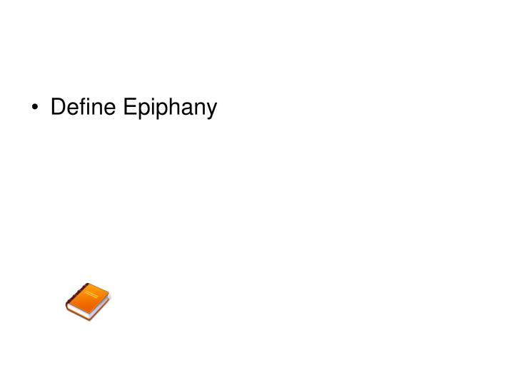 Define Epiphany