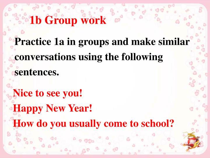 1b Group work
