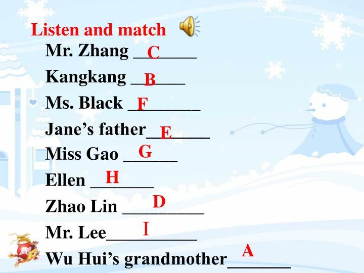 Mr. Zhang _______