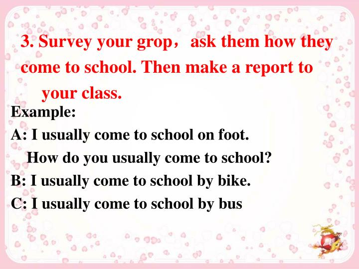 3. Survey your grop
