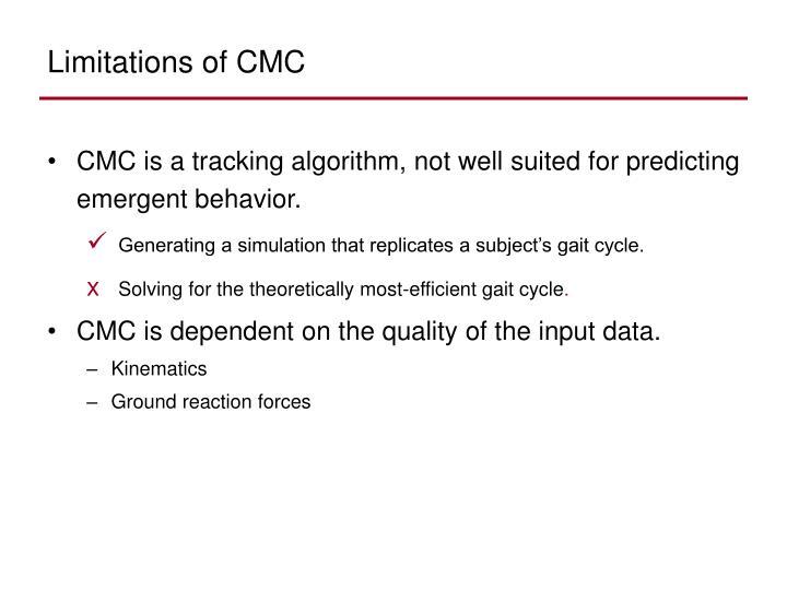 Limitations of CMC