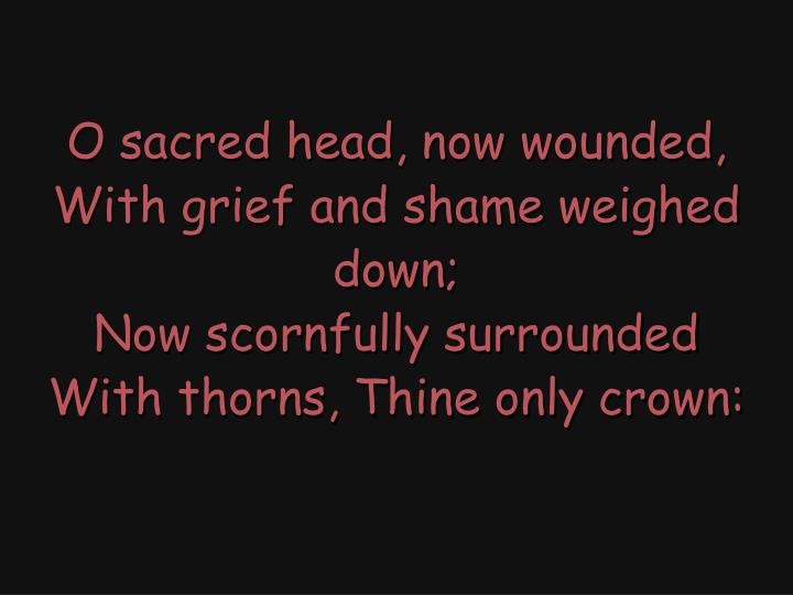 O sacred head, now wounded,