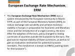 european exchange rate mechanism erm