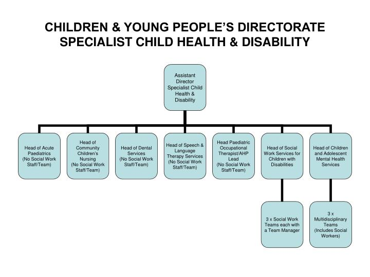 Children young people s directorate specialist child health disability