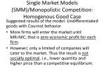 single market models smm monopolistic competition homogenous good case