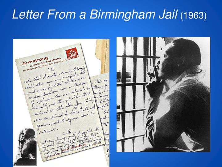 a letter from a birmingham jail ppt the civil rights movement powerpoint presentation 20326