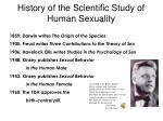 history of the scientific study of human sexuality1