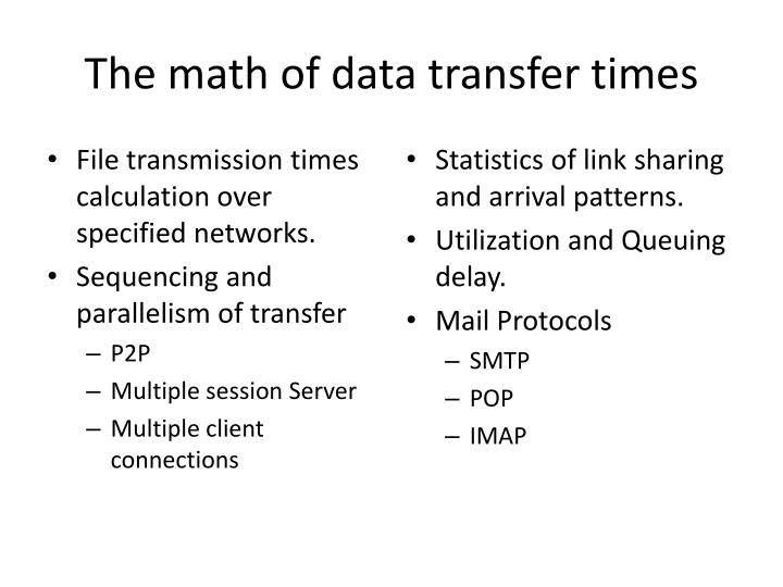 The math of data transfer times