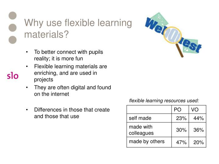 Why use flexible learning