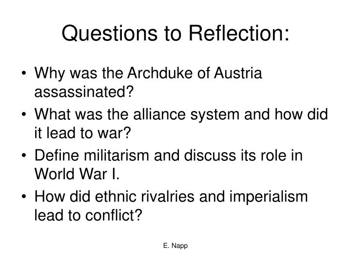 Questions to Reflection: