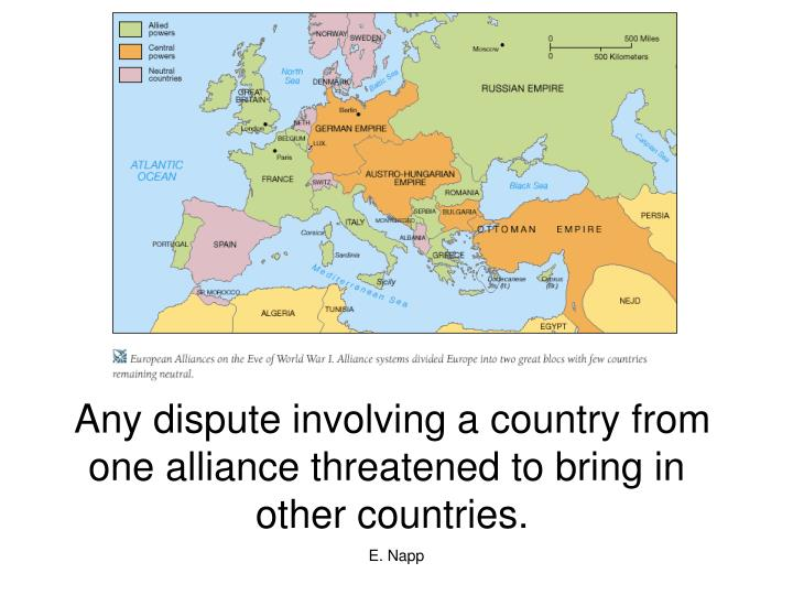 Any dispute involving a country from