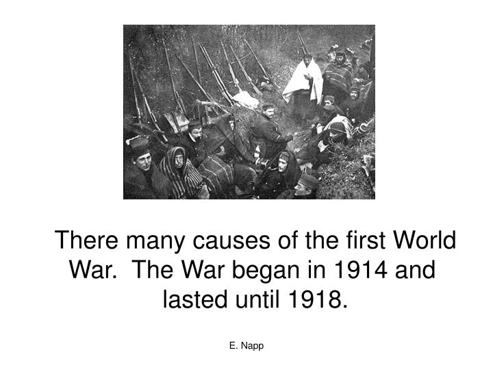 There many causes of the first World