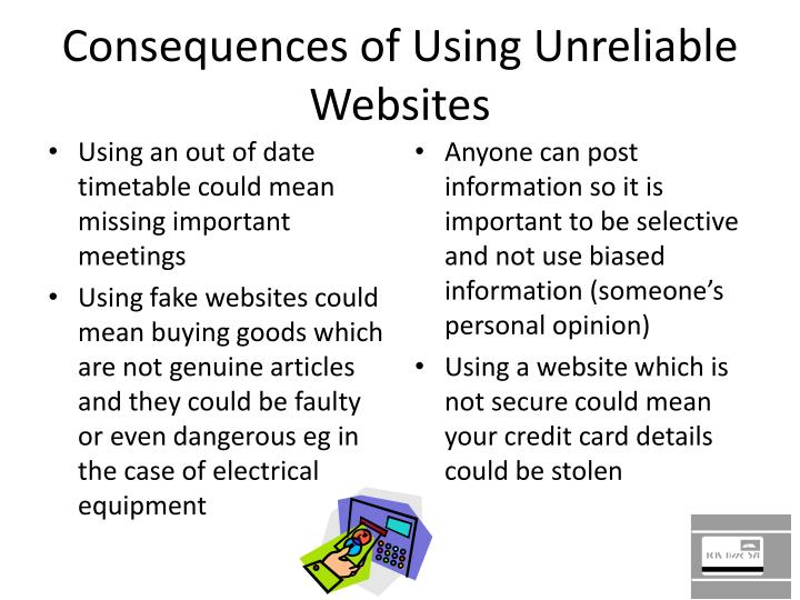 Consequences of Using Unreliable Websites