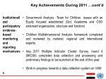 key achievements during 2011 cont d2