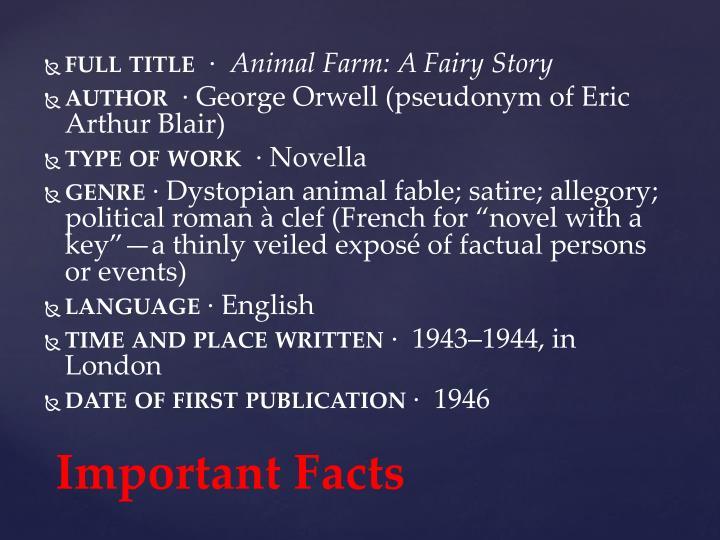 what genre is animal farm