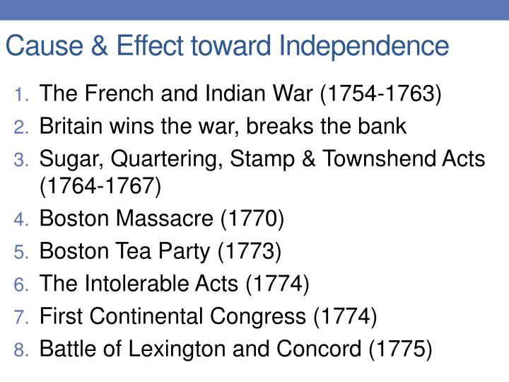 Cause effect toward independence