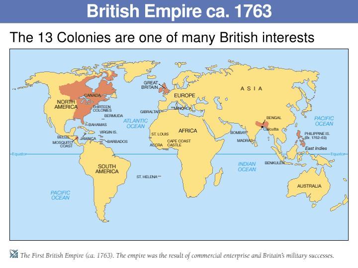 British Empire ca. 1763
