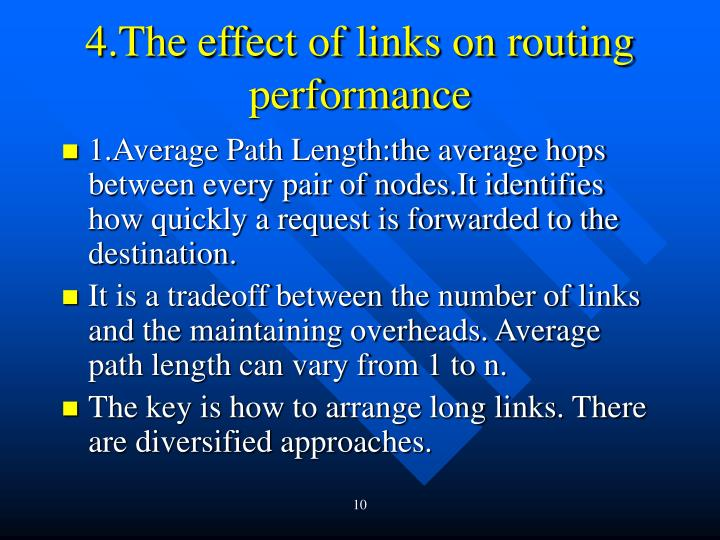 4.The effect of links on routing performance