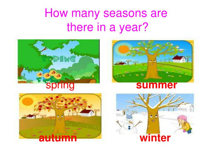 how the seasons and day and