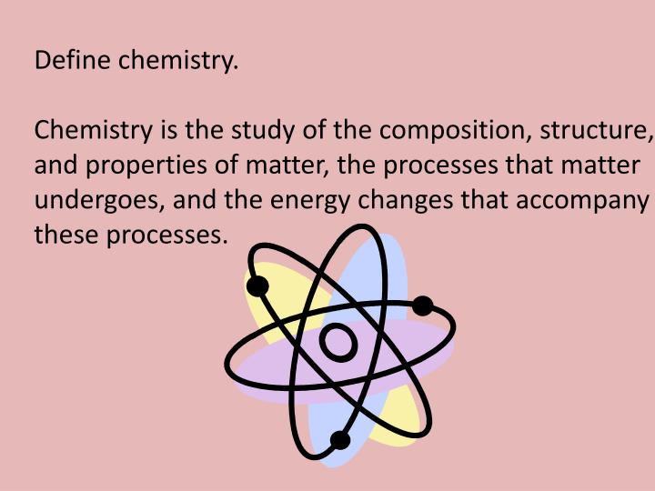 Define chemistry.