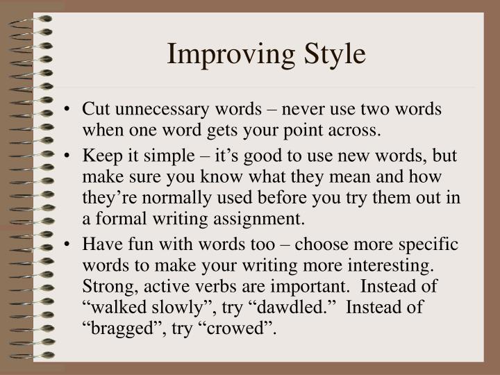 Improving Style