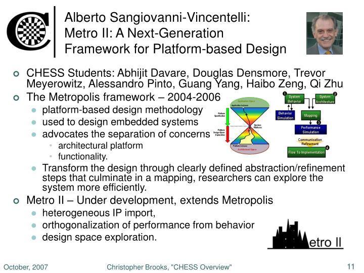 Alberto Sangiovanni-Vincentelli: