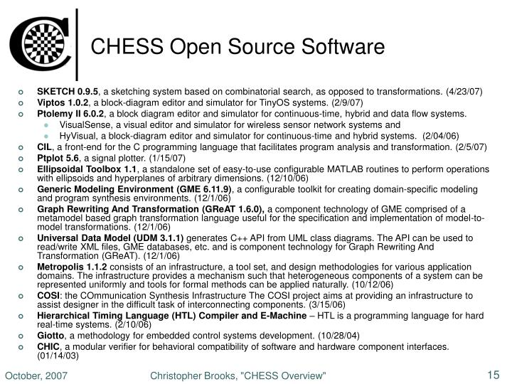 CHESS Open Source Software