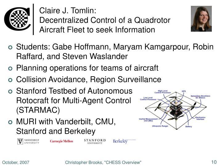 Claire J. Tomlin: