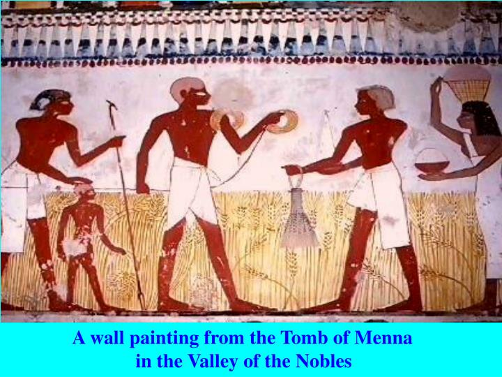 A wall painting from the Tomb of Menna