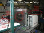 gem beam test detector setup