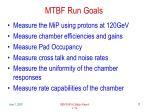 mtbf run goals