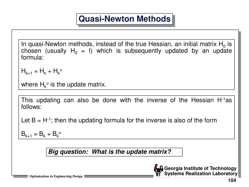 PPT - Quasi-Newton Methods PowerPoint Presentation - ID:6839388