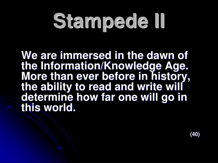 Stampede II