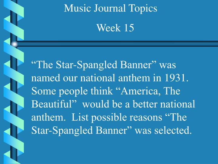 Music Journal Topics