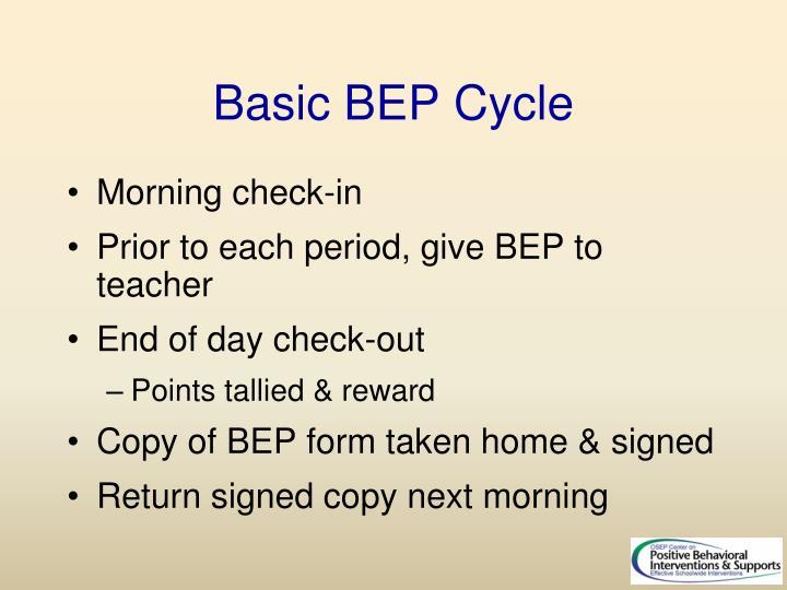Basic BEP Cycle