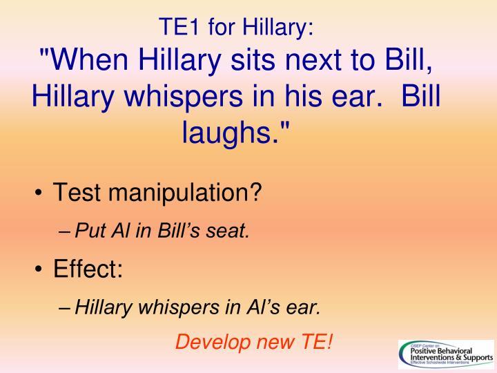 TE1 for Hillary: