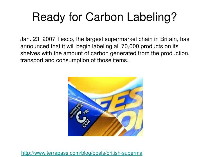 Ready for Carbon Labeling?