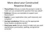 more about your constructed response essay