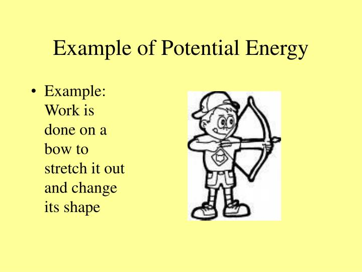 Example of Potential Energy
