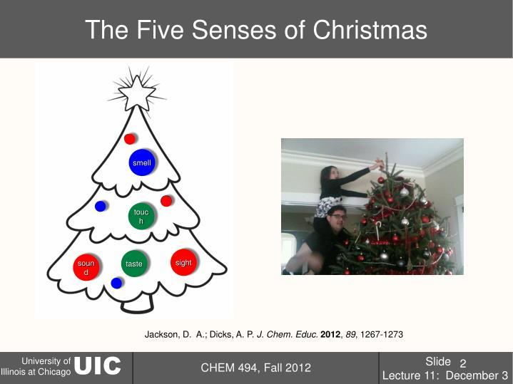 The five senses of christmas