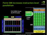 fermi sm increases instruction level parallelism