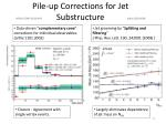 pile up corrections for jet substructure
