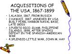 acquisitions of the usa 1867 1899