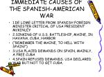 immediate causes of the spanish american war
