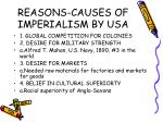 reasons causes of imperialism by usa