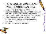 the spanish american war caribbean sea