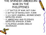 the spanish american war in the philippines
